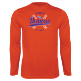 Performance Orange Longsleeve Shirt-Demons Softball Seams