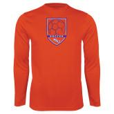 Performance Orange Longsleeve Shirt-Soccer Shield