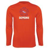 Performance Orange Longsleeve Shirt-Demons Soccer Geometric