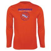Performance Orange Longsleeve Shirt-Demons Volleyball Stacked