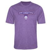 Performance Purple Heather Contender Tee-Arched Northwestern State w/Demon Head