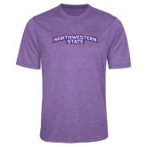 Performance Purple Heather Contender Tee-Arched Northwestern State