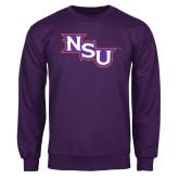 Purple Fleece Crew-NSU