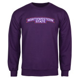 Purple Fleece Crew-Arched Northwestern State