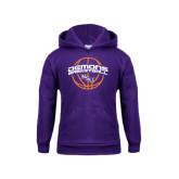 Youth Purple Fleece Hoodie-Demons Basketball Arched