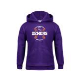 Youth Purple Fleece Hoodie-Demons Baseball Seams
