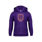 Youth Purple Fleece Hoodie-Soccer Shield
