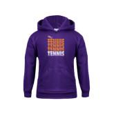 Youth Purple Fleece Hoodie-Tennis Repeating