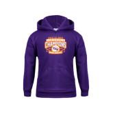 Youth Purple Fleece Hoodie-Womens Basketball Back To Back Champions