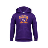 Youth Purple Fleece Hoodie-2015 Southland Conference Tennis Champions