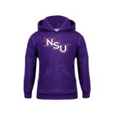 Youth Purple Fleece Hoodie-NSU