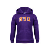 Youth Purple Fleece Hoodie-Arched NSU