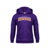 Youth Purple Fleece Hoodie-Arched Northwestern State Demons