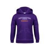 Youth Purple Fleece Hoodie-Baseball