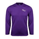 Performance Purple Longsleeve Shirt-NSU