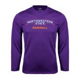 Performance Purple Longsleeve Shirt-Baseball