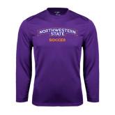 Performance Purple Longsleeve Shirt-Soccer