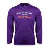 Performance Purple Longsleeve Shirt-Volleyball