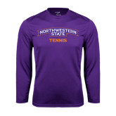 Performance Purple Longsleeve Shirt-Tennis