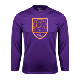 Performance Purple Longsleeve Shirt-Soccer Shield