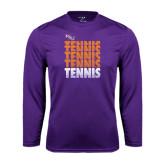 Performance Purple Longsleeve Shirt-Tennis Repeating