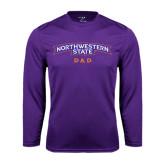 Performance Purple Longsleeve Shirt-Dad