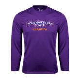 Performance Purple Longsleeve Shirt-Grandpa