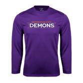 Performance Purple Longsleeve Shirt-Northwestern State Demons