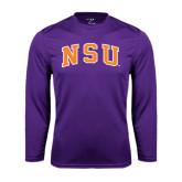 Performance Purple Longsleeve Shirt-Arched NSU