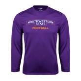 Performance Purple Longsleeve Shirt-Football