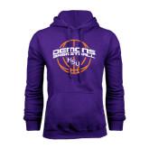 Purple Fleece Hoodie-Demons Basketball Arched
