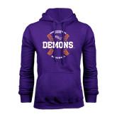 Purple Fleece Hoodie-Demons Baseball Seams