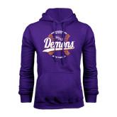 Purple Fleece Hoodie-Demons Softball Seams