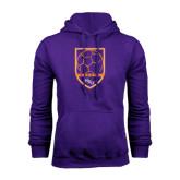Purple Fleece Hoodie-Soccer Shield