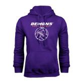 Purple Fleece Hoodie-Demons Volleyball Stacked
