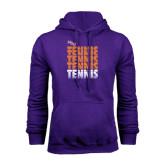 Purple Fleece Hoodie-Tennis Repeating