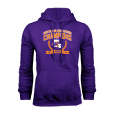 Purple Fleece Hoodie-2015 Southland Conference Tennis Champions