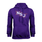 Purple Fleece Hoodie-NSU