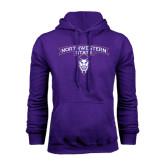 Purple Fleece Hoodie-Arched Northwestern State w/Demon Head