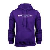 Purple Fleece Hoodie-Arched Northwestern State