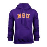 Purple Fleece Hoodie-Arched NSU