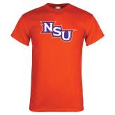 Orange T Shirt-NSU Distressed
