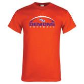 Orange T Shirt-Demons Football Horizontal