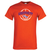 Orange T Shirt-Demons Basketball Arched