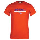 Orange T Shirt-Softball Stencil w/ Bar