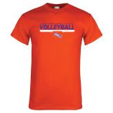 Orange T Shirt-Volleyball Stencil w/ Bar