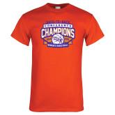 Orange T Shirt-Womens Basketball Back To Back Champions