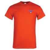 Orange T Shirt-Arched Northwestern State w/Demon Head