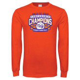 Orange Long Sleeve T Shirt-Womens Basketball Back To Back Champions