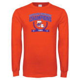 Orange Long Sleeve T Shirt-2015 Southland Conference Tennis Champions